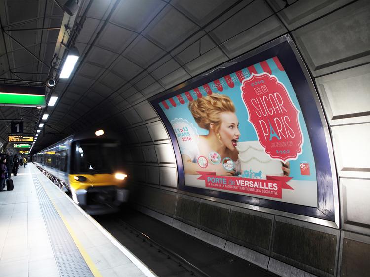 Affichage métro SUGAR Paris
