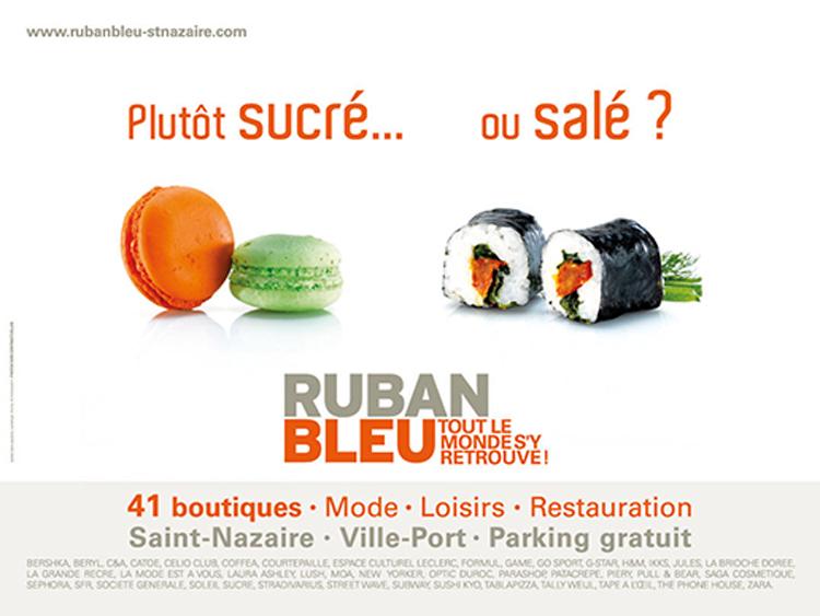 Campagne de communication réalisée pour Ruban bleu - cc Saint Nazaire