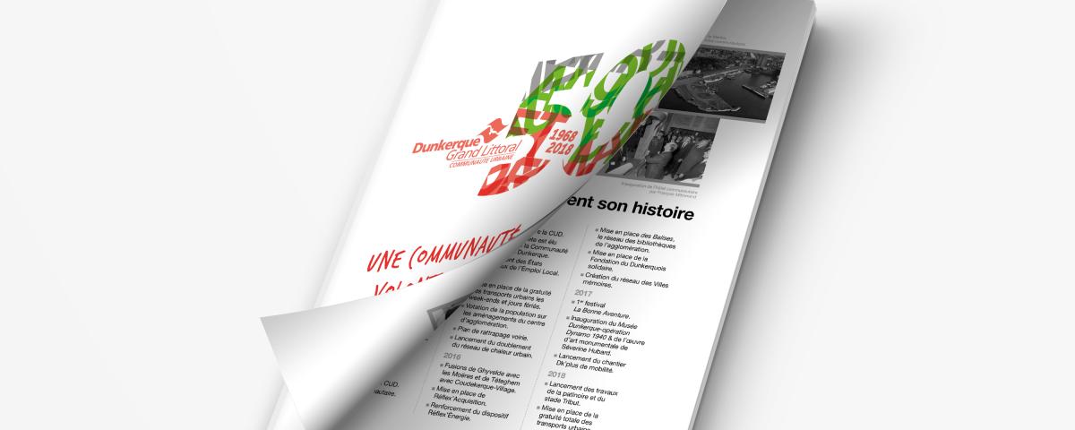 brochure anniversaire pour la CUD