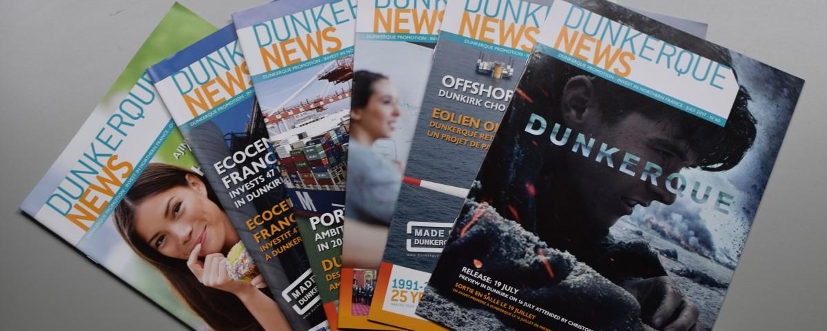 Numéros de Dunkerque News réalisés par Marine Com